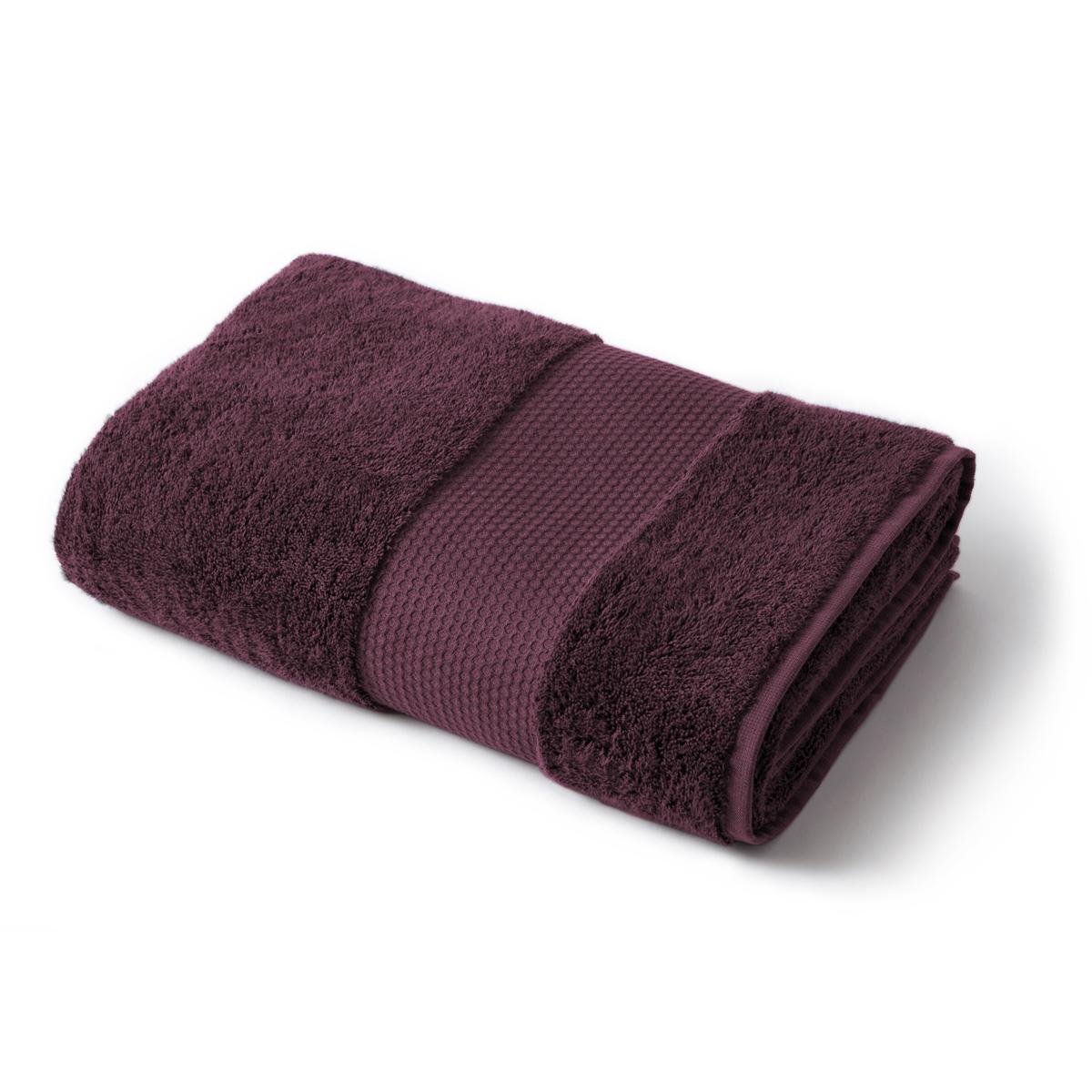 Towel Plain 600g bordeaux | Linge de lit | Tradition des Vosges
