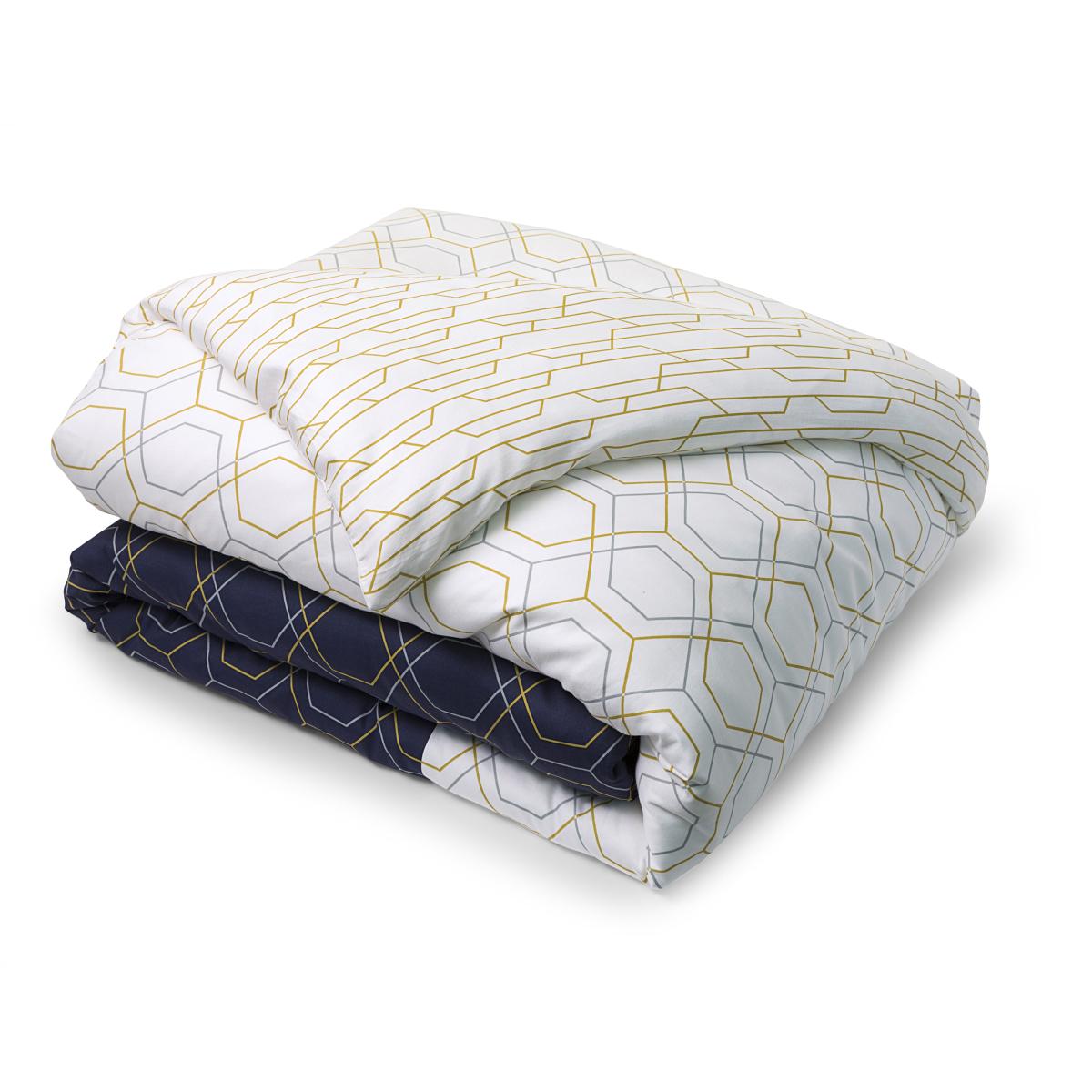 Parure galata parure de lit tradition des vosges satin de coton - Guide taille housse de couette ...