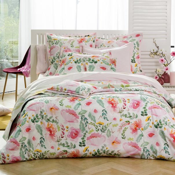 Housse de couette delicatesse linge de lit de qualit for Tradition des vosges housse de couette