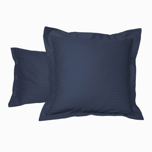 Pillow case Satin Couture Jour Venise blue | Bed linen | Tradition des Vosges