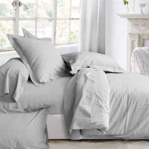 Parure Coton Lavé Craie | Linge de maison | Tradition des vosges