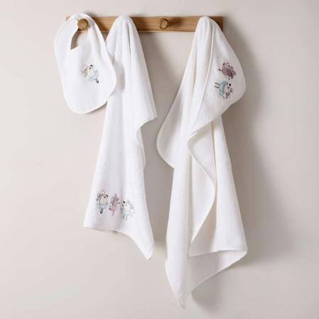 Ensemble linge de bain Souricette | Tradition des Vosges | Linge de bain enfant