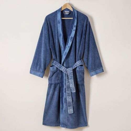 Peignoir Jeans | Linge de bain homme | Peignoir homme | Tradition des Vosges