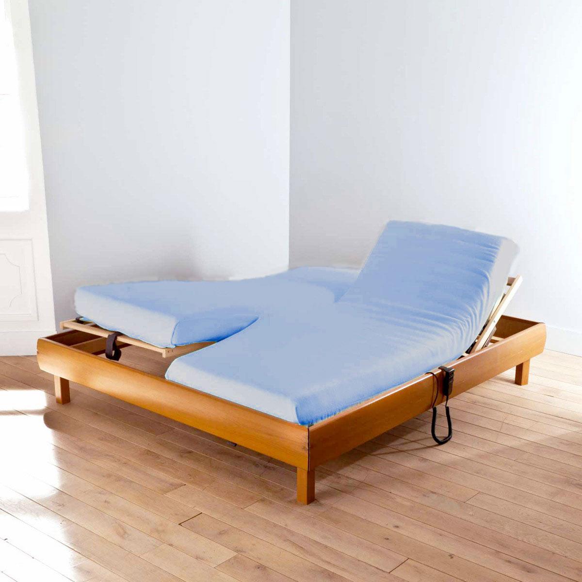 drap housse double uni percale linge de lit de qualit. Black Bedroom Furniture Sets. Home Design Ideas