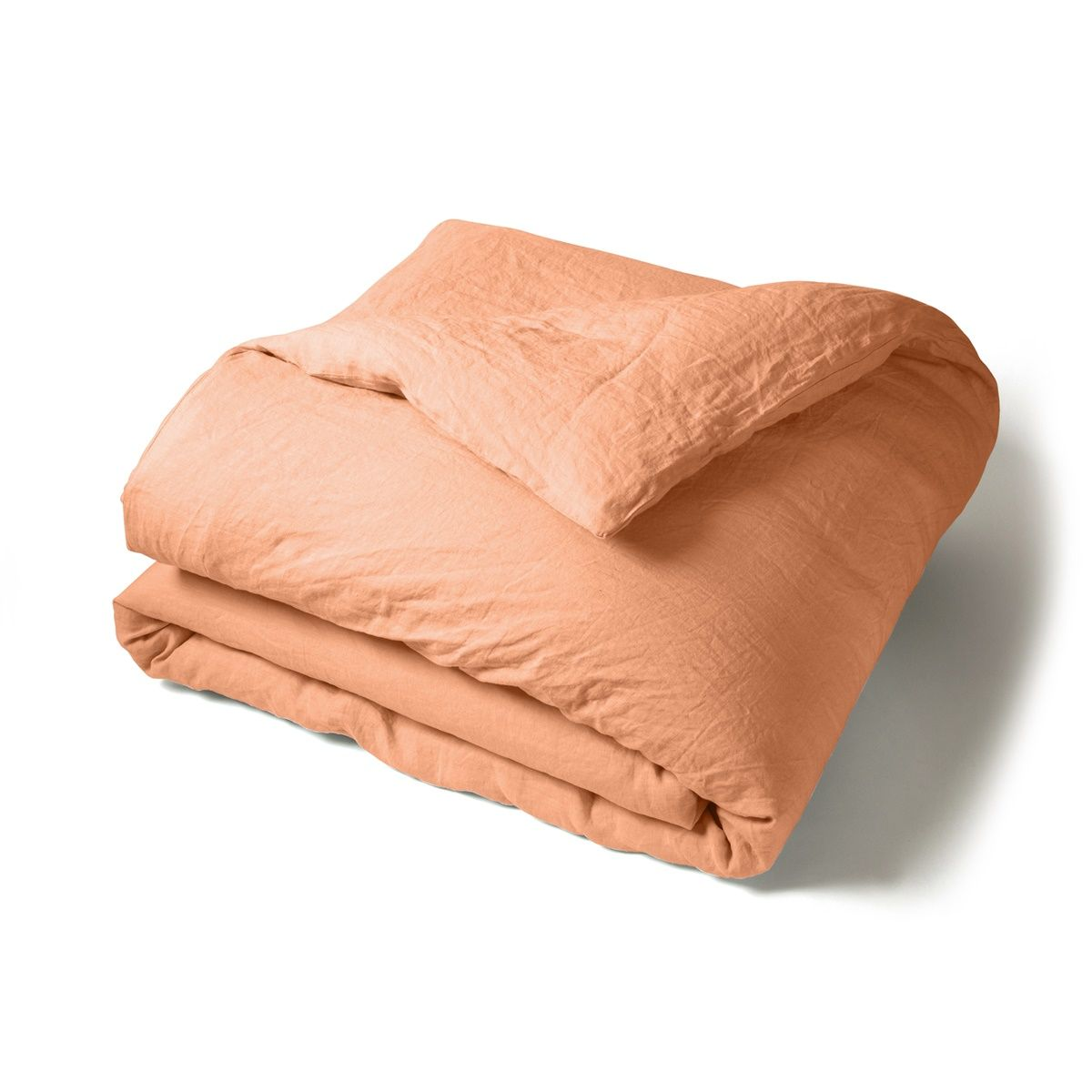 Duvet Cover Washed Linen orange | Linge de lit | Tradition des Vosges