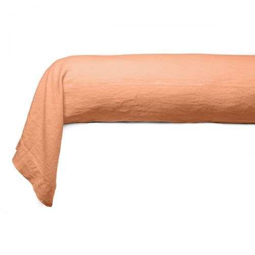 Bolster case Washed Linen orange | Linge de lit | Tradition des Vosges