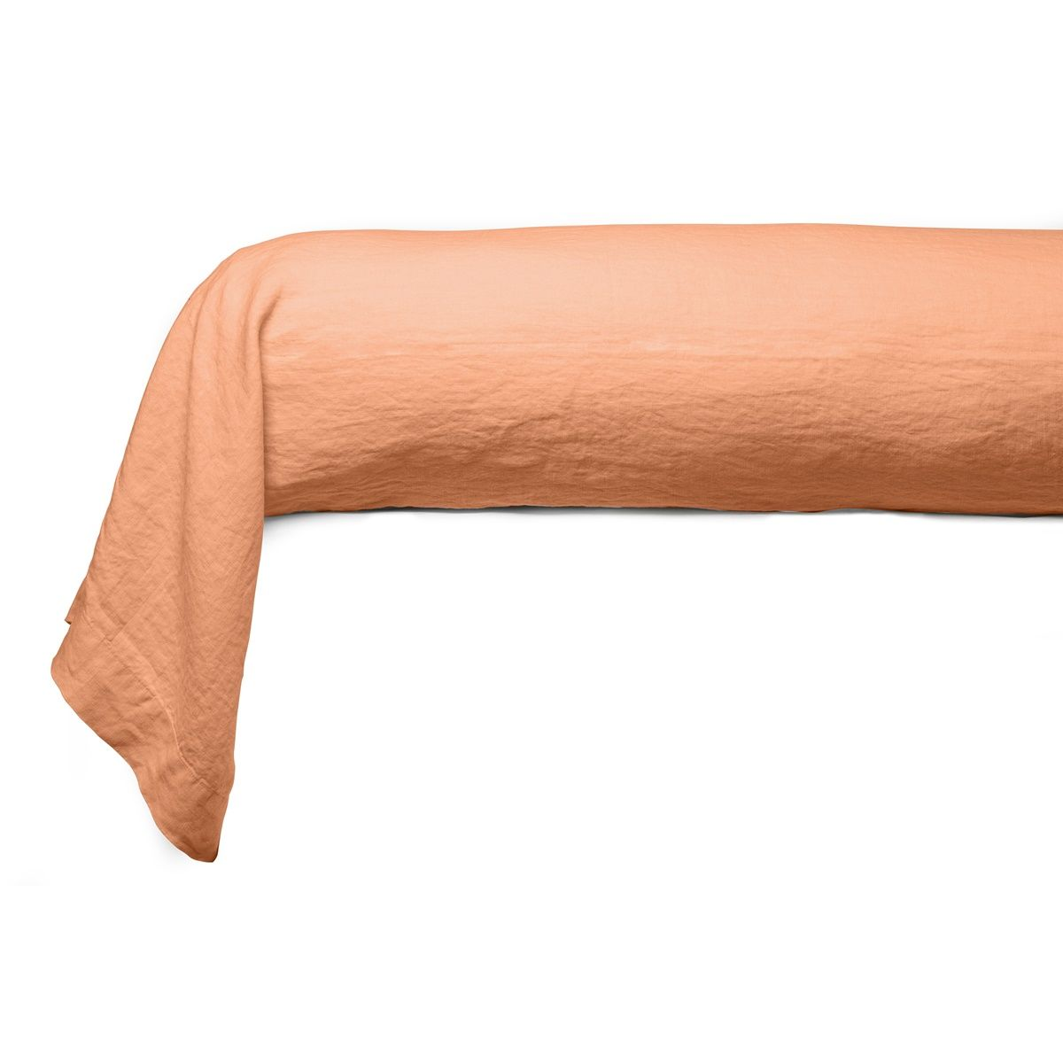 Bolster case Washed Linen orange | Linge de lit | Tradition des Vosges