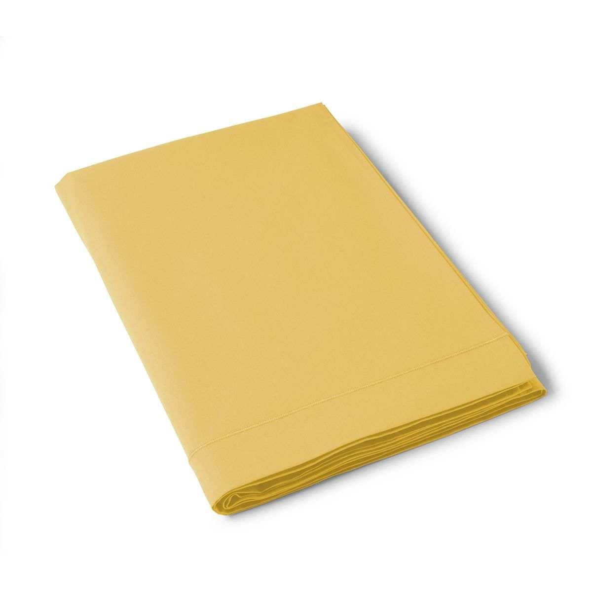 Flat Cotton Sheet mustard | Bed linen | Tradition des Vosges
