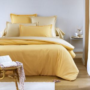 Bicolor Duvet Cover yellow | Bed linen | Tradition des Vosges