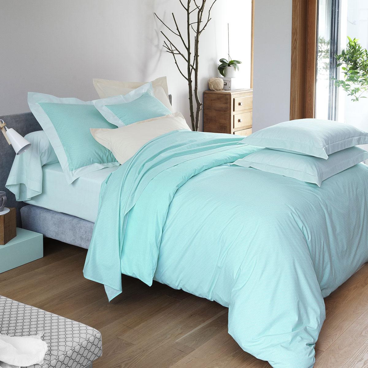 Housse de couette dream blue linge de lit de qualit - Housse de couette tradition des vosges ...