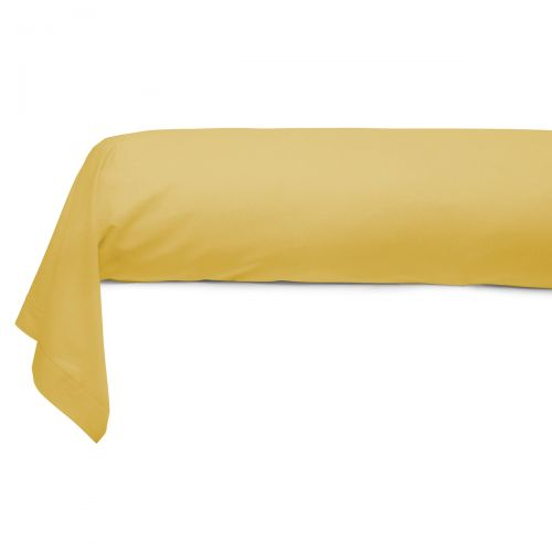 Cotton Bolster Case mustard | Bed linen | Tradition des Vosges