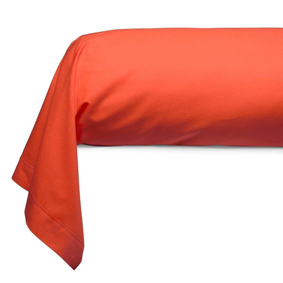 Cotton Bolster Case orange | Bed linen | Tradition des Vosges