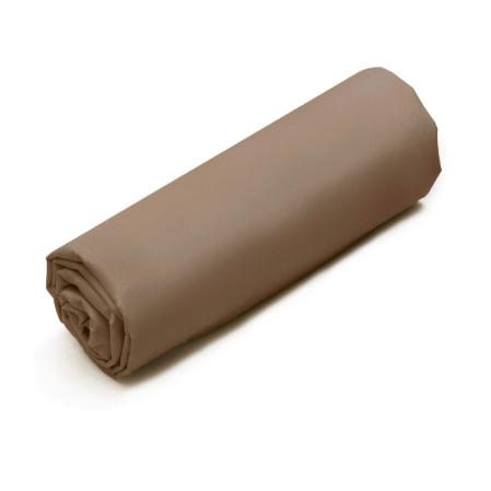 Drap-housse Double Uni Coton brown | Bed linen | Tradition des Vosges