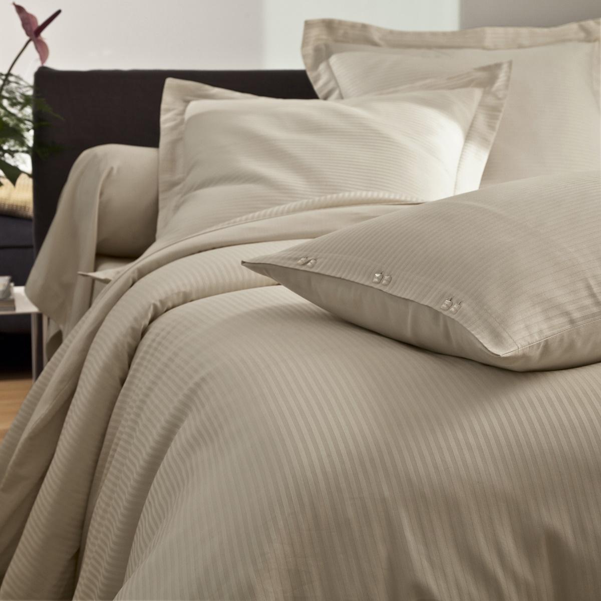 housse de couette unie satin jacquard soldes jusqu 39 55 linge de maison de qualit. Black Bedroom Furniture Sets. Home Design Ideas