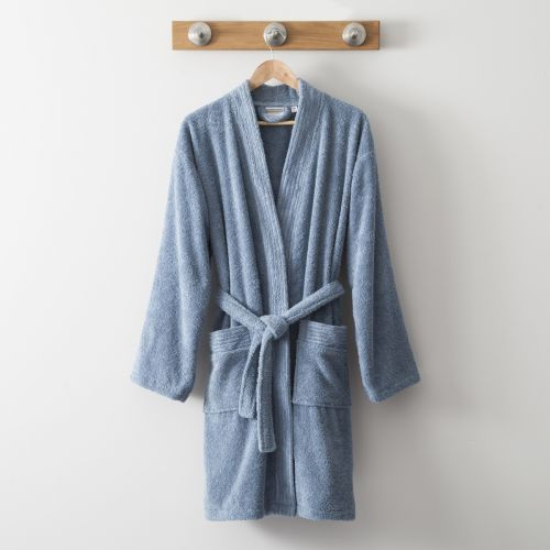 Cotton Kimono 420 Gr blue | Bed linen | Tradition des Vosges