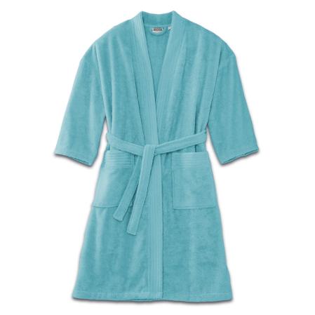 Cotton Kimono 420 Gr turquoise | Bed linen | Tradition des Vosges