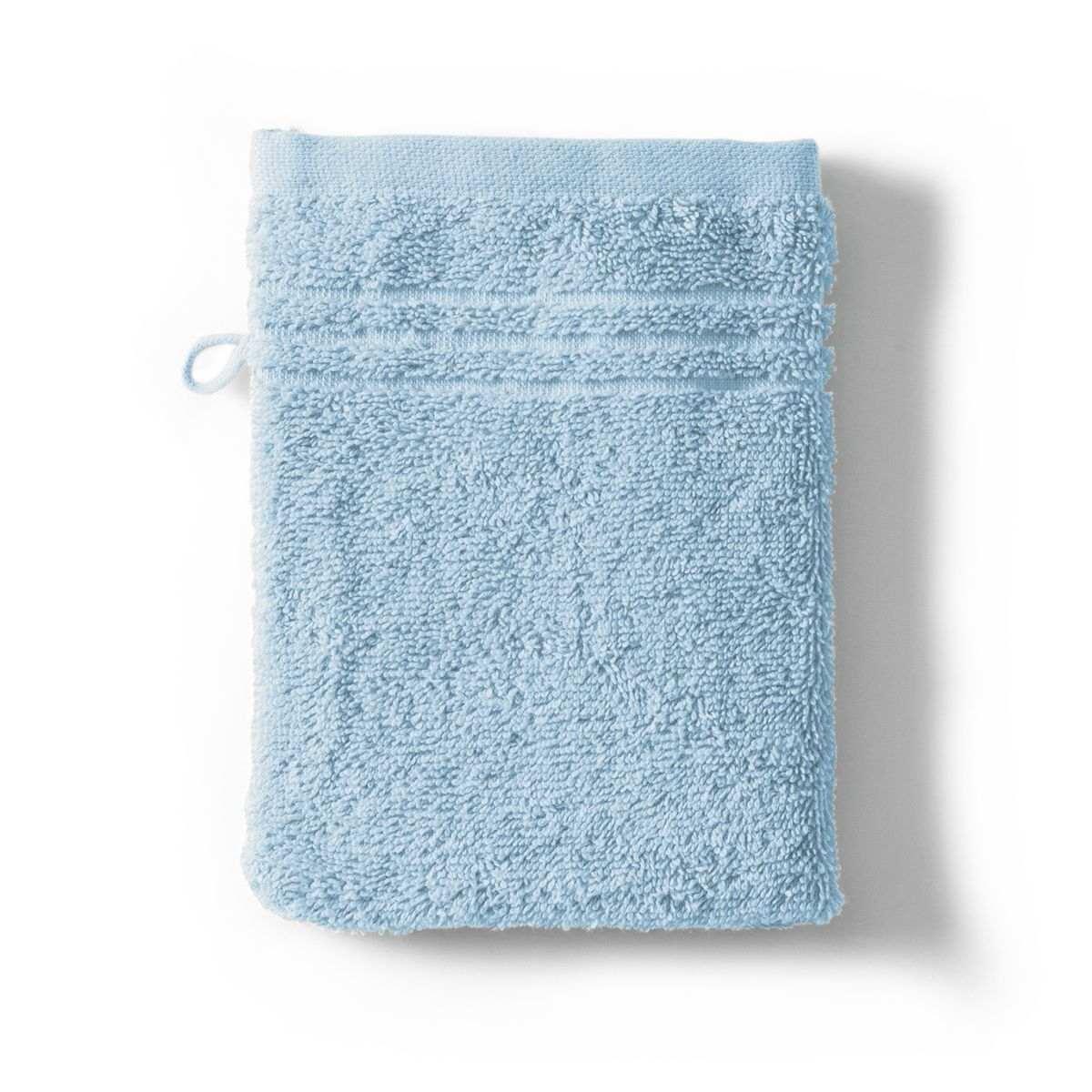 Washcloth Sdb Cotton 550gr Cotton Sponge 550g/m2 sky | Bed linen | Tradition des Vosges