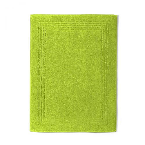 Bath Mat Cotton 550gr Cotton Sponge 800gr / m2 green | Bed linen | Tradition des Vosges