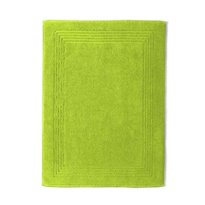 Bath Mat Cotton 550gr Cotton Sponge 800gr / m2 green | Bed linen | Tradition des Vosges