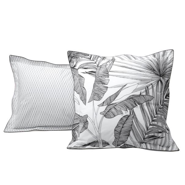 Taie d'oreiller en percale de coton Tropical recto | Linge de lit | Tradition des Vosges