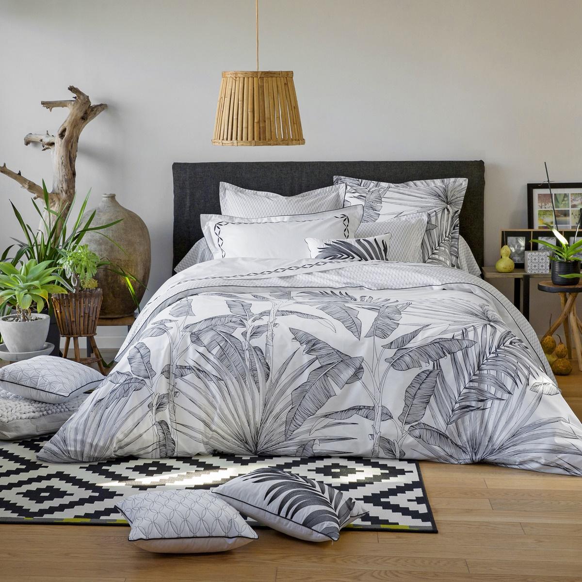 Tropical duvet cover bed linen tradition des vosges