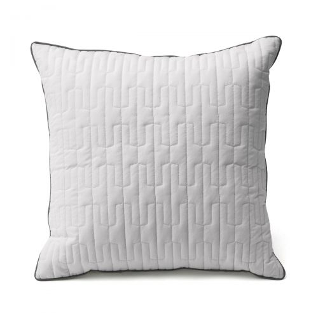 Coussin percale de coton Origami 40x40 | Linge de lit | Tradition des Vosges