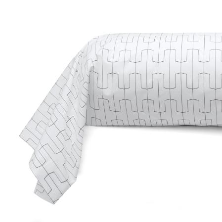 Taie de traversin percale de coton Origami | Linge de lit | Tradition des Vosges