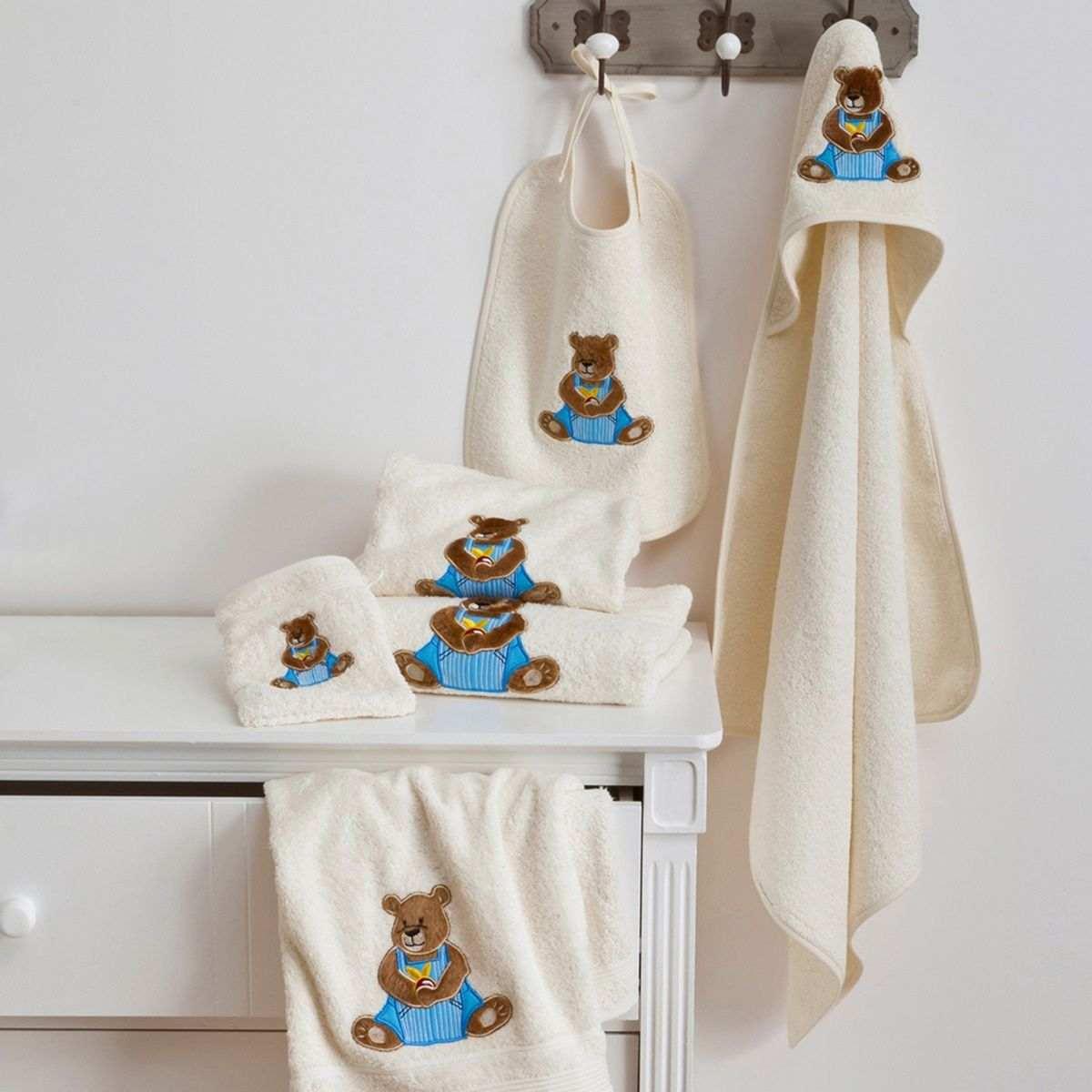 Gant Toilette Ourson Boy | Linge de bain enfant | Tradition des Vosges
