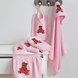 Washcloth Ourson Girl