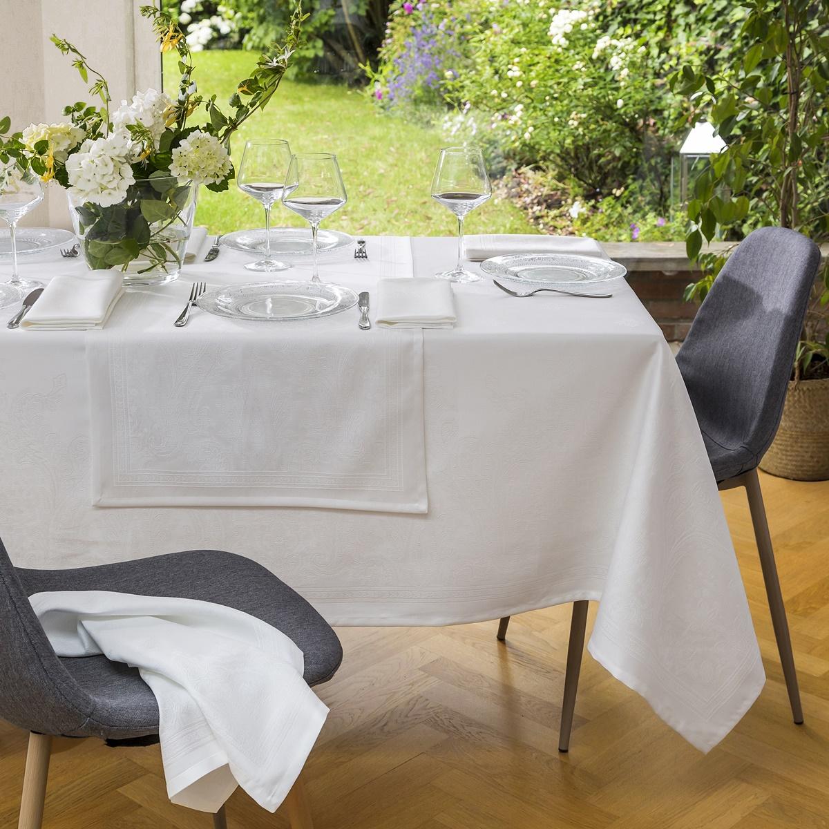 Nappe Florence - Blanc | Linge de table | Tradition des Vosges