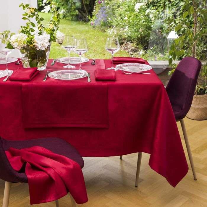 Nappe Florence - Blanc   Linge de table   Tradition des Vosges