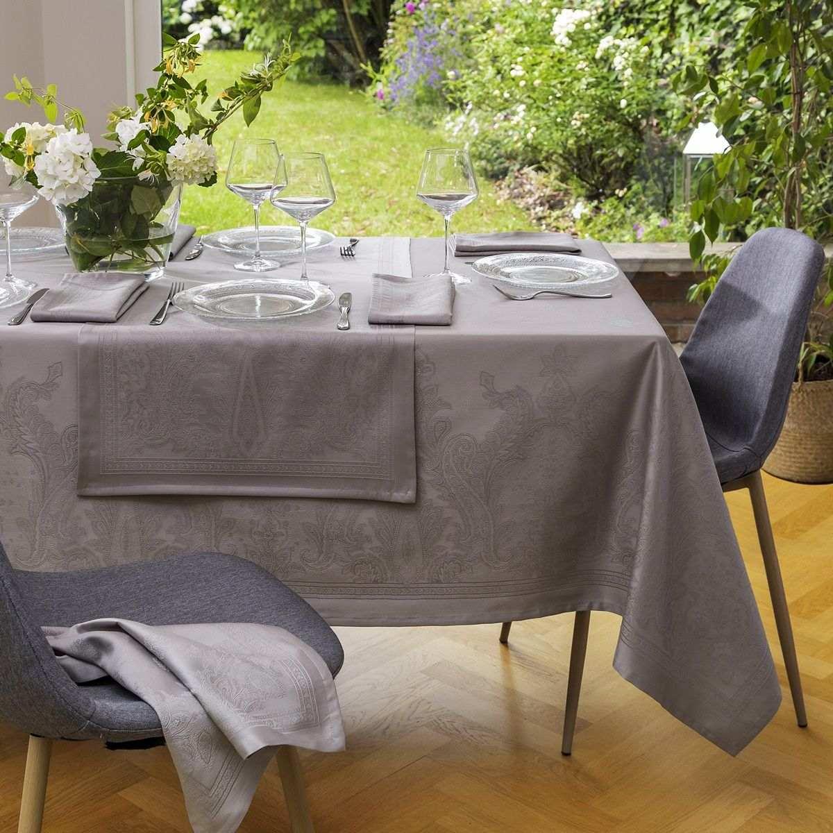 Nappe Florence - Taupe   Linge de table   Tradition des Vosges