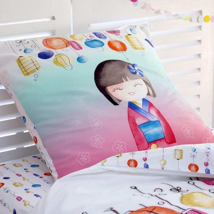 Taie Oreiller Akiko recto | Linge de lit enfant | Tradition des Vosges
