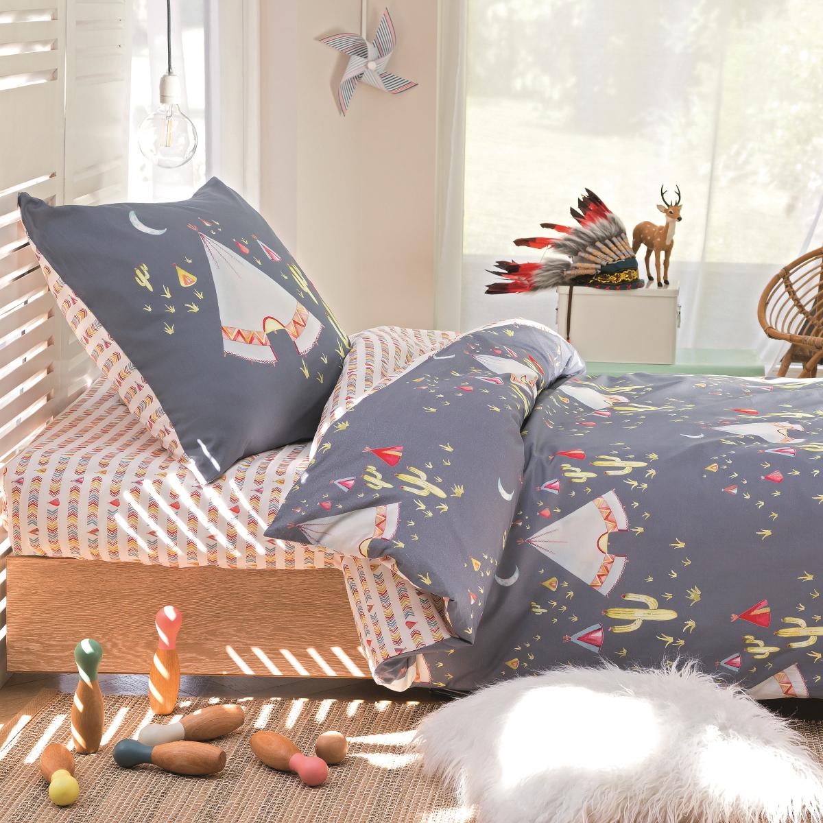 b2794e503c4469 Parure de lit Tipi   Linge de lit pour enfant   Tradition des Vosges