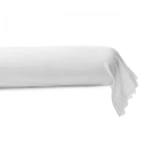 Taie de traversin satin de coton Tradition Blanche | Linge de lit | Tradition des Vosges