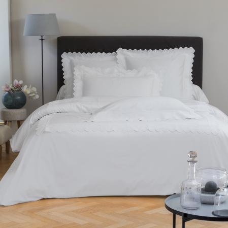 Ensemble de lit en satin de coton Tradition Blanche | Linge de lit | Tradition des Vosges