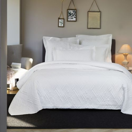 Ensemble couvre-lit Verone Blanche | Linge de lit | Tradition des Vosges