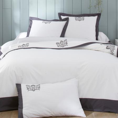 Duvet Cover Bijoux Anthracite | Bed Linen | Tradition des Vosges