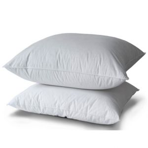 Pillow 10% Duvet Duck Ppb Piping White