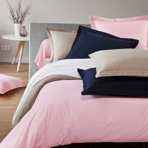 Plain duvet cover percale cotton