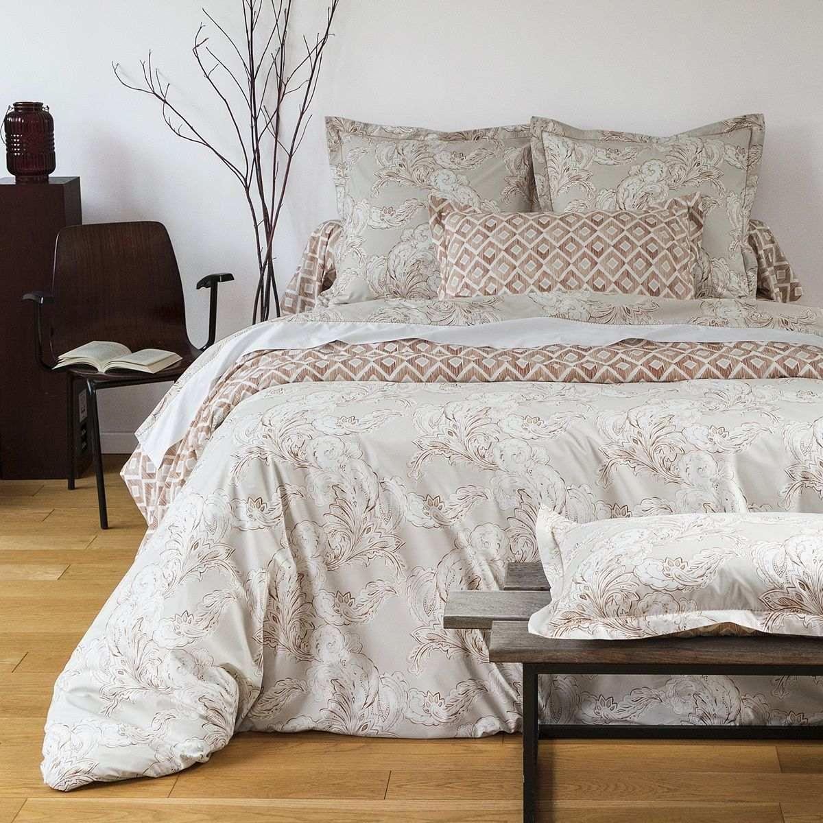 housse couette cachemire linge de lit percale. Black Bedroom Furniture Sets. Home Design Ideas
