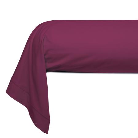 Taie Traversin Unie Coton Prune | Linge de lit | Tradition des Vosges