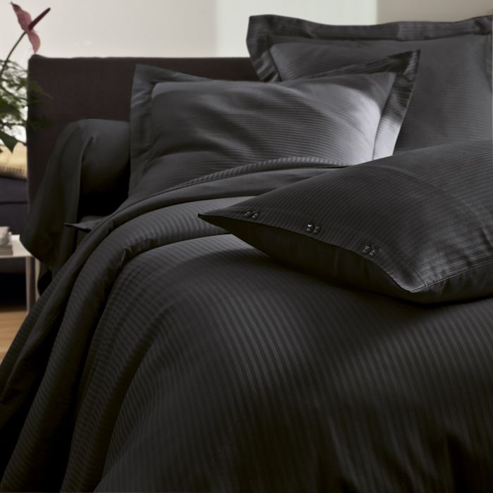 Flat Sheet Satin Jacquard brown | Bed linen | Tradition des Vosges
