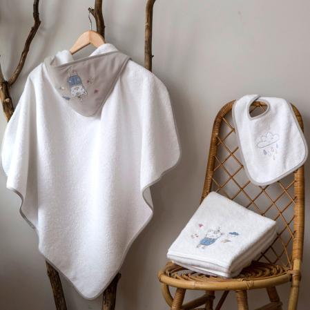 Parure de bain Grisou | Linge pour enfant | Tradition des Vosges