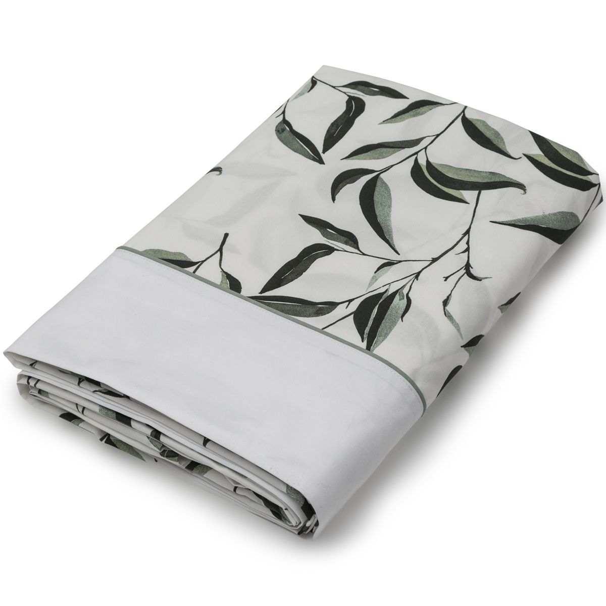 Drap plat Botanic percale de coton | Linge de lit | Tradition des Vosges