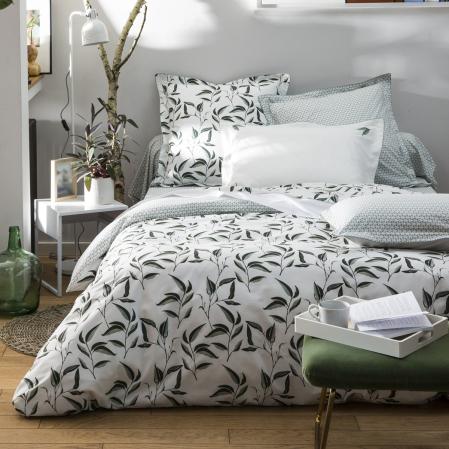 Drap plat Botanic percale de coton ensemble | Linge de lit | Tradition des Vosges