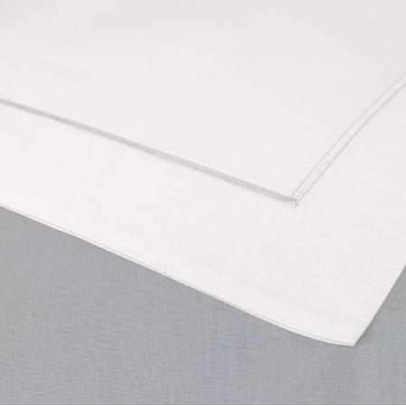 Taie Oreiller Uni 100% Coton Blanc