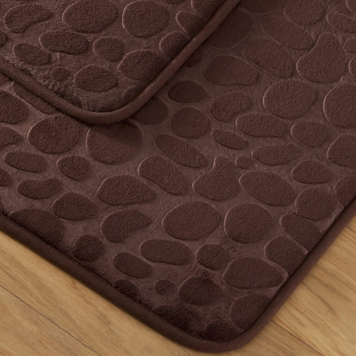 tapis bain galet marron tapis m moire de forme tradition des vosges. Black Bedroom Furniture Sets. Home Design Ideas