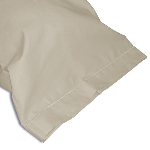 Taie Traversin Uni 100% Coton Anis zoom