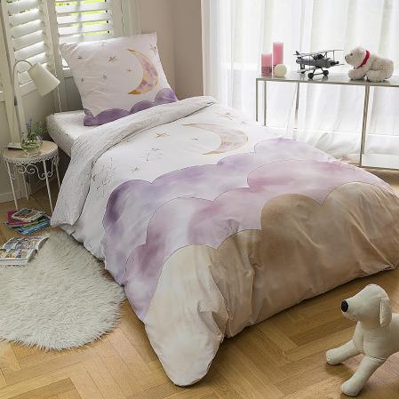 Ensemble linge de lit Luna percale de coton | Linge de lit enfant | Tradition des Vosges